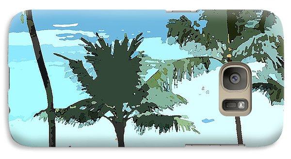 Galaxy Case featuring the digital art Hawaiian Beach by Karen Nicholson