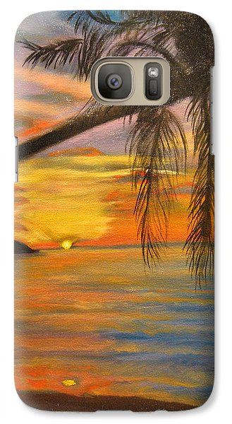 Galaxy Case featuring the painting Hawaiian Sunset 11 by Jenny Lee