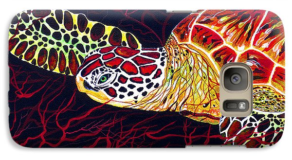 Galaxy Case featuring the painting  Hawksbill Turtle by Debbie Chamberlin