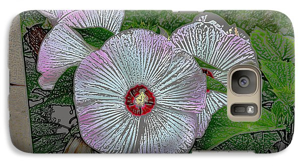 Galaxy Case featuring the digital art Hibiscus Giants  by Kathleen Stephens