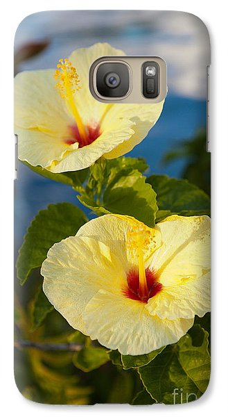 Galaxy Case featuring the photograph Bright Yellow Hibiscus by Roselynne Broussard
