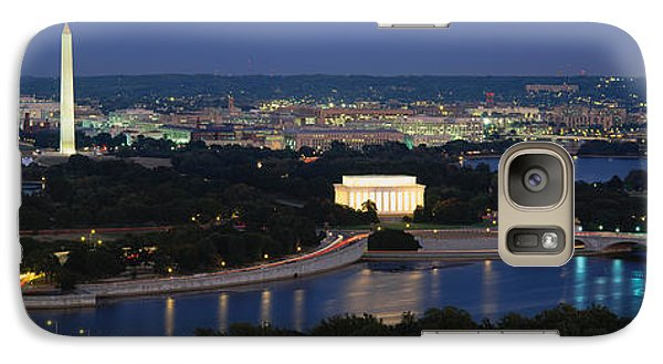 Lincoln Memorial Galaxy S7 Case - High Angle View Of A City, Washington by Panoramic Images