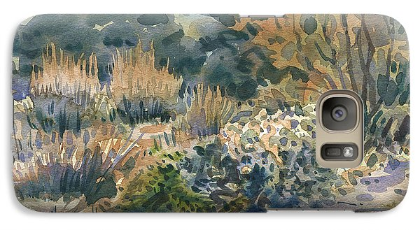 Galaxy Case featuring the painting High Desert Flora by Donald Maier