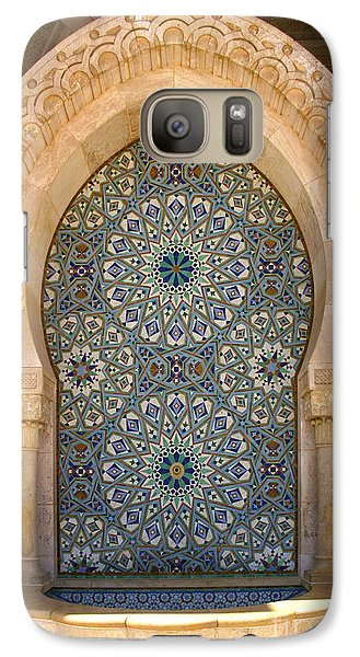 Galaxy Case featuring the photograph Holy Water Fountain Hassan II Mosque Sour Jdid Casablanca Morocco  by Ralph A  Ledergerber-Photography