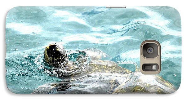 Galaxy Case featuring the photograph Kamakahonu, The Eye Of The Honu  by Lehua Pekelo-Stearns