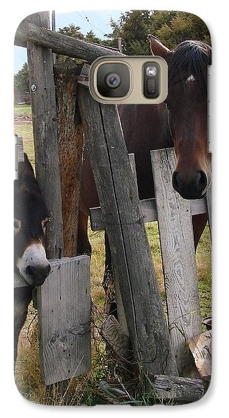 Galaxy Case featuring the photograph Horsing Around by Athena Mckinzie