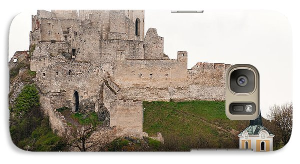 Galaxy Case featuring the photograph Hrad Beckov - Castle by Les Palenik