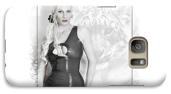 Galaxy Case featuring the photograph Human And Animal by Christine Sponchia