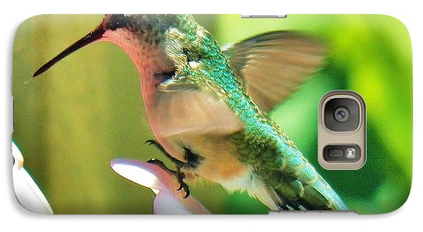 Galaxy Case featuring the photograph Hummingbird 3 2014 by Judy Via-Wolff