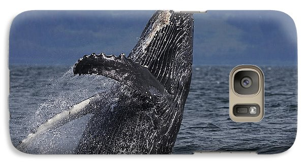 Humpback Whale Breaching Prince William Galaxy Case by Hiroya Minakuchi