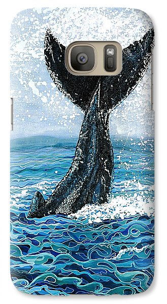 Galaxy Case featuring the painting Humpback Flukes by Debbie Chamberlin