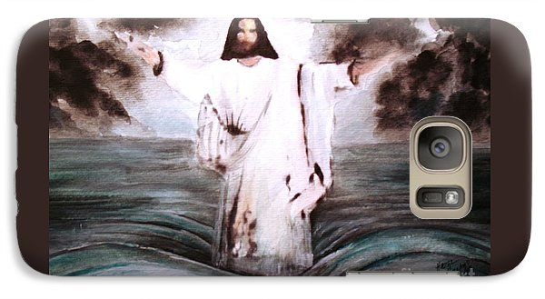 Galaxy Case featuring the painting I Am by Hazel Holland