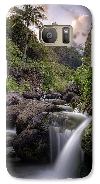 Galaxy Case featuring the photograph Iao Needle Sunset by Hawaii  Fine Art Photography