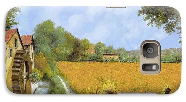 Sunflower Galaxy S7 Case - Il Mulino E I Girasoli by Guido Borelli