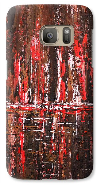 Galaxy Case featuring the painting In The Heat Of The Night by Patricia Lintner