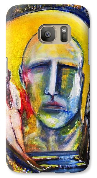 Galaxy Case featuring the painting Inside The Garden  by Kicking Bear  Productions