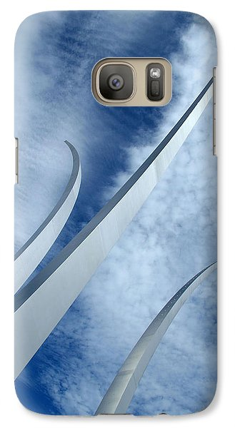 Galaxy Case featuring the photograph Into The Clouds by Cora Wandel