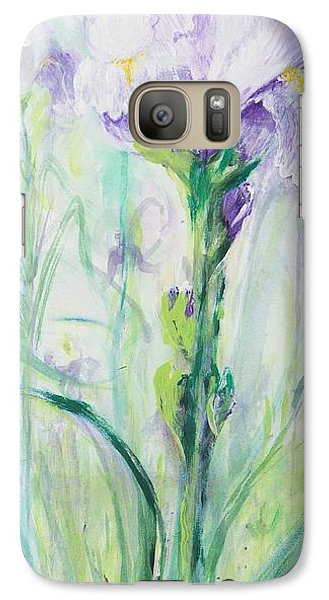 Galaxy Case featuring the painting Iris Number One by Cathy Long