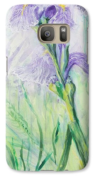 Galaxy Case featuring the painting Iris Number Three by Cathy Long