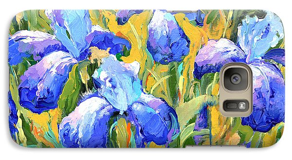 Galaxy Case featuring the painting Irises by Dmitry Spiros