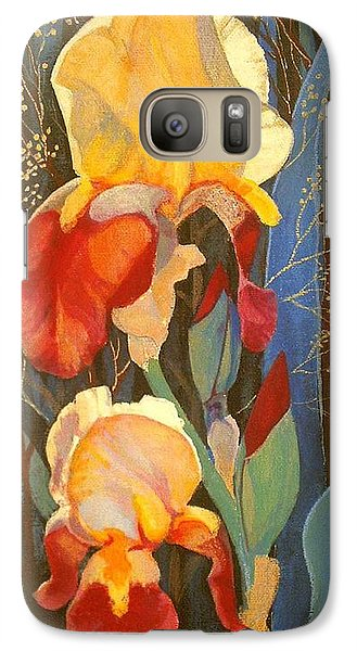 Galaxy Case featuring the painting Irises by Marina Gnetetsky