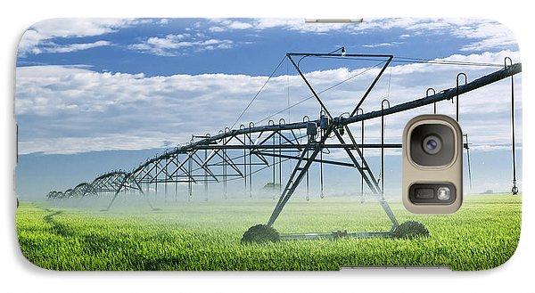 Rural Scenes Galaxy S7 Case - Irrigation Equipment On Farm Field by Elena Elisseeva