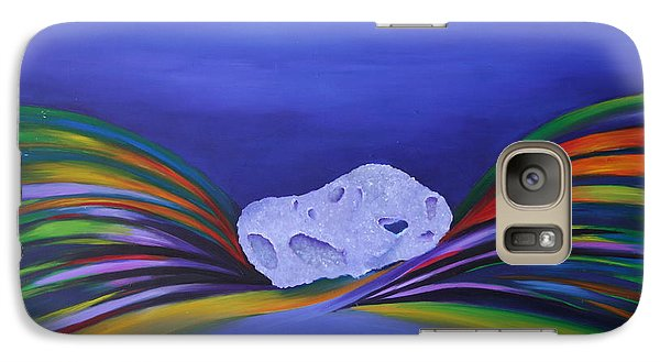 Galaxy Case featuring the painting It's A Splash by Karin Eisermann