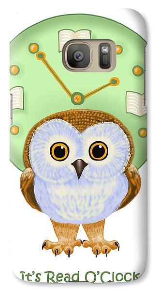 Galaxy Case featuring the painting It's Read O'clock by Leena Pekkalainen