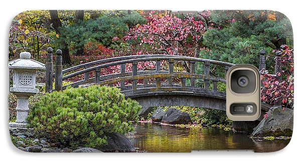 Galaxy Case featuring the photograph Japanese Bridge by Sebastian Musial