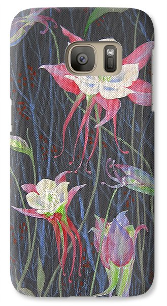Galaxy Case featuring the painting Japanese Flowers by Marina Gnetetsky