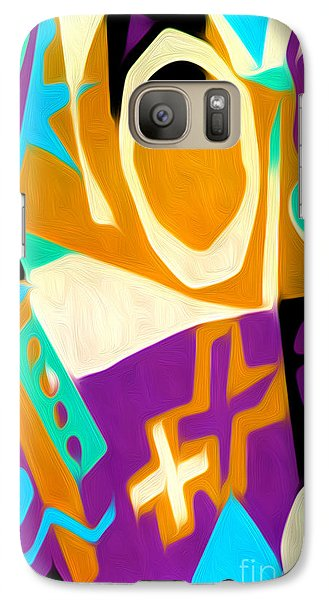 Galaxy Case featuring the digital art Jazz Art - 01 by Gregory Dyer