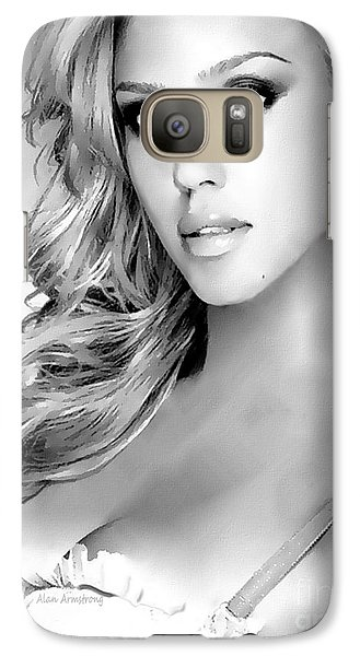 #1 Jessica Alba Galaxy S7 Case by Alan Armstrong