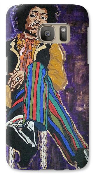Galaxy Case featuring the painting Jimi Hendrix by Rachel Natalie Rawlins