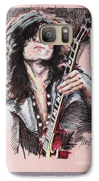 Jimmy Page Galaxy S7 Case by Melanie D