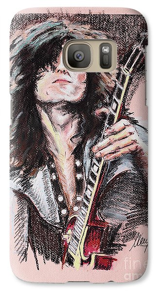 Jimmy Page Galaxy Case by Melanie D