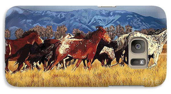 Galaxy Case featuring the painting Joe's Horses by Tim Gilliland