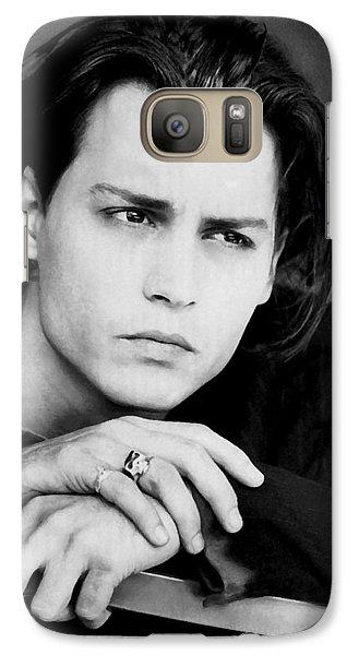 Galaxy Case featuring the photograph Johnny Depp by Karon Melillo DeVega