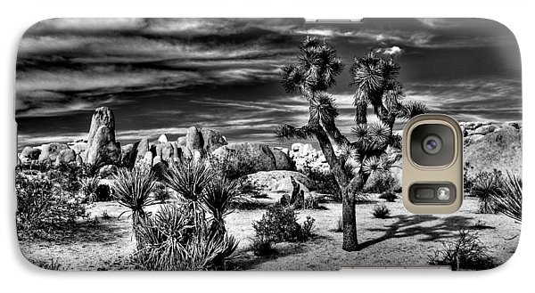 Galaxy Case featuring the photograph Joshua Tree Black And White by Benjamin Yeager