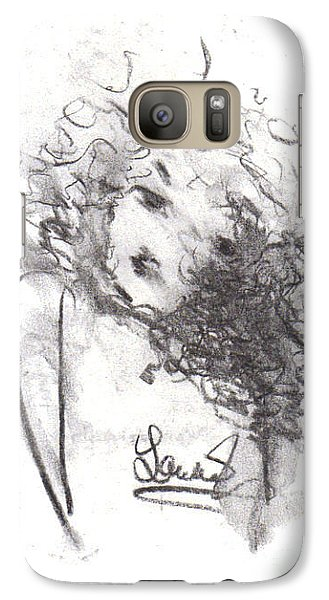 Galaxy Case featuring the drawing Just Me by Laurie L