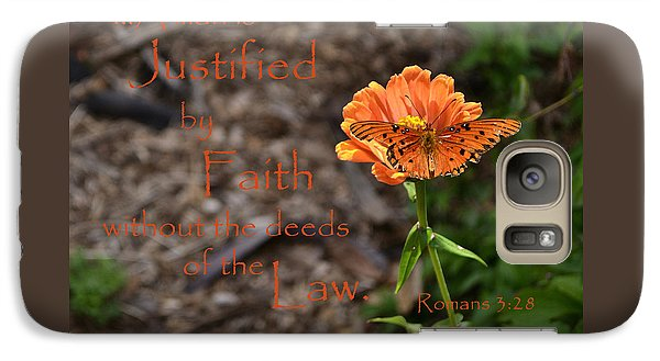 Galaxy Case featuring the photograph Justified By Faith by Larry Bishop