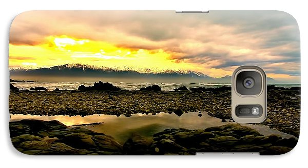 Galaxy Case featuring the photograph Kaikoura Coast New Zealand by Amanda Stadther