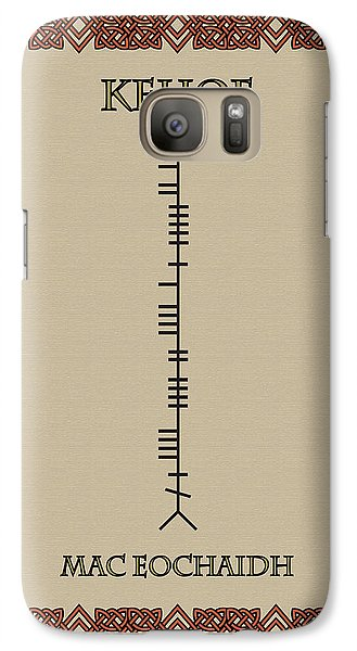 Galaxy Case featuring the digital art Kehoe Written In Ogham by Ireland Calling
