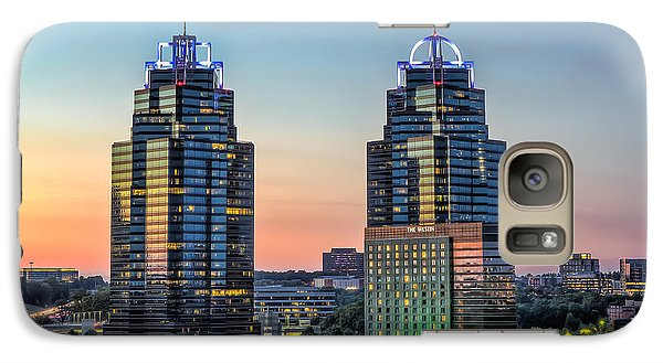 Galaxy Case featuring the photograph King And Queen Buildings by Anna Rumiantseva