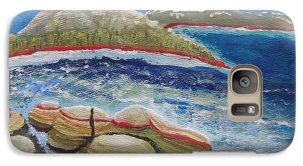 Galaxy Case featuring the painting Kudos To Kondos At The Lake by Carol Duarte