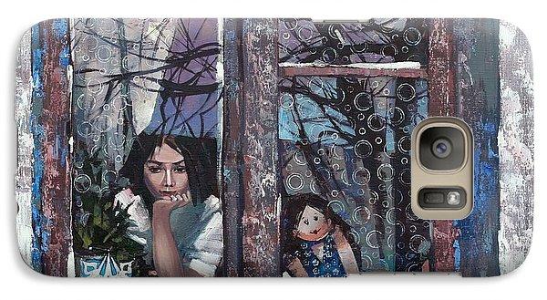 Galaxy Case featuring the painting lady Winter by Anastasija Kraineva