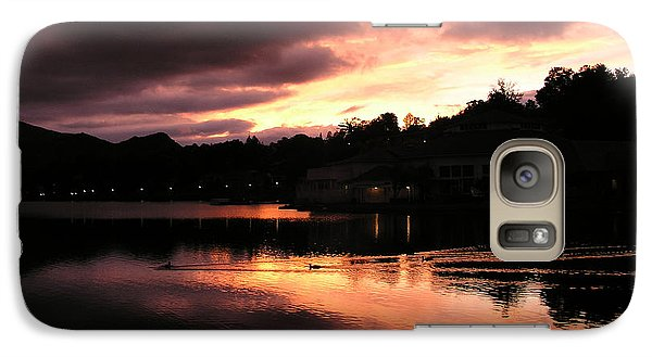 Galaxy Case featuring the photograph Lake J Sunset by Craig T Burgwardt
