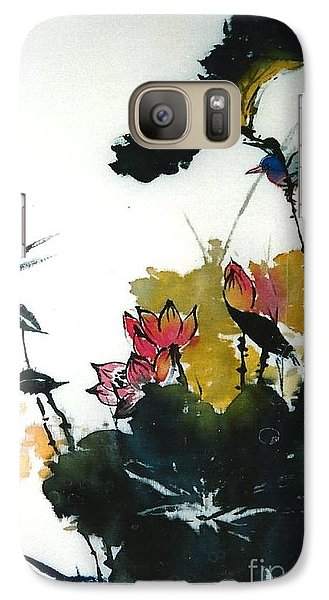 Galaxy Case featuring the painting Chinese Flower Brush Painting by Rose Wang