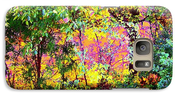 Galaxy Case featuring the photograph Leafy II by Shirley Moravec