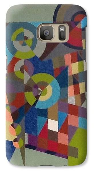 Galaxy Case featuring the painting Letter  M by Hang Ho
