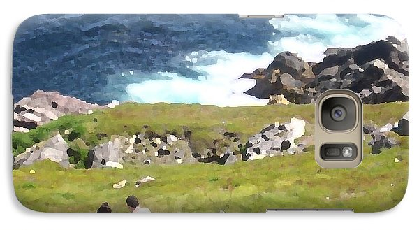 Galaxy Case featuring the photograph Lighthouse Picnic by Zinvolle Art